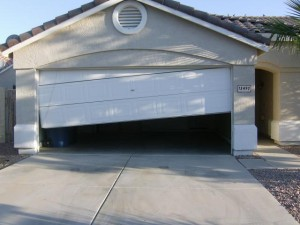 opened garage door