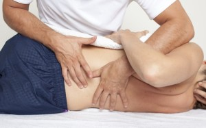 man enjoying Osteopathy treatments