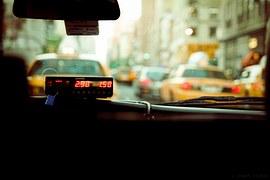 inside a taxi