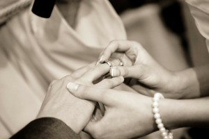 couple wearing ring
